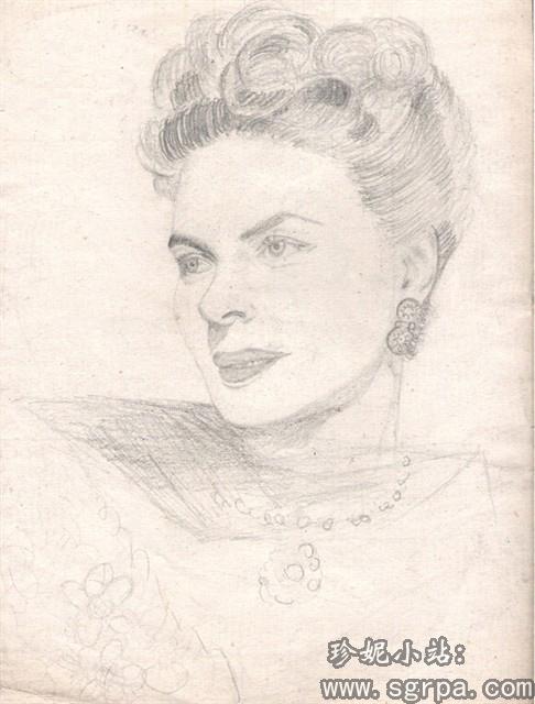 母亲的素描画-妈妈的水彩画 音乐家李斯特 ,好棒 -欢迎光临珍妮的翻唱空间图片